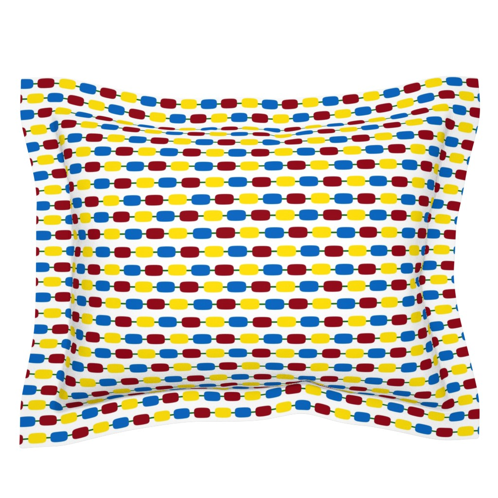 Sebright Pillow Sham featuring KindergartenBeads by jozanehouse