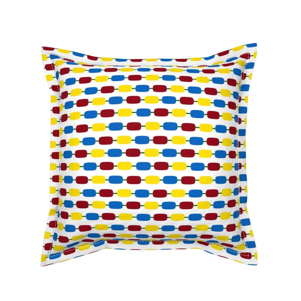 Serama Throw Pillow featuring KindergartenBeads by jozanehouse