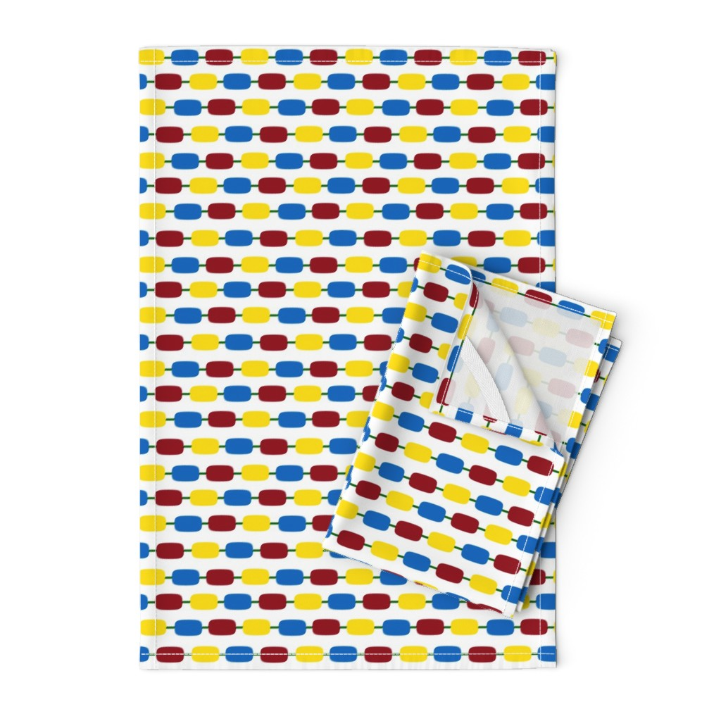 Orpington Tea Towels featuring KindergartenBeads by jozanehouse