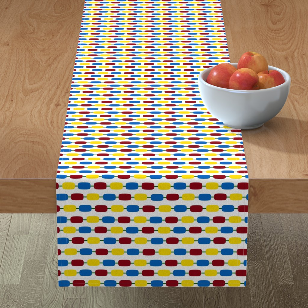 Minorca Table Runner featuring KindergartenBeads by jozanehouse
