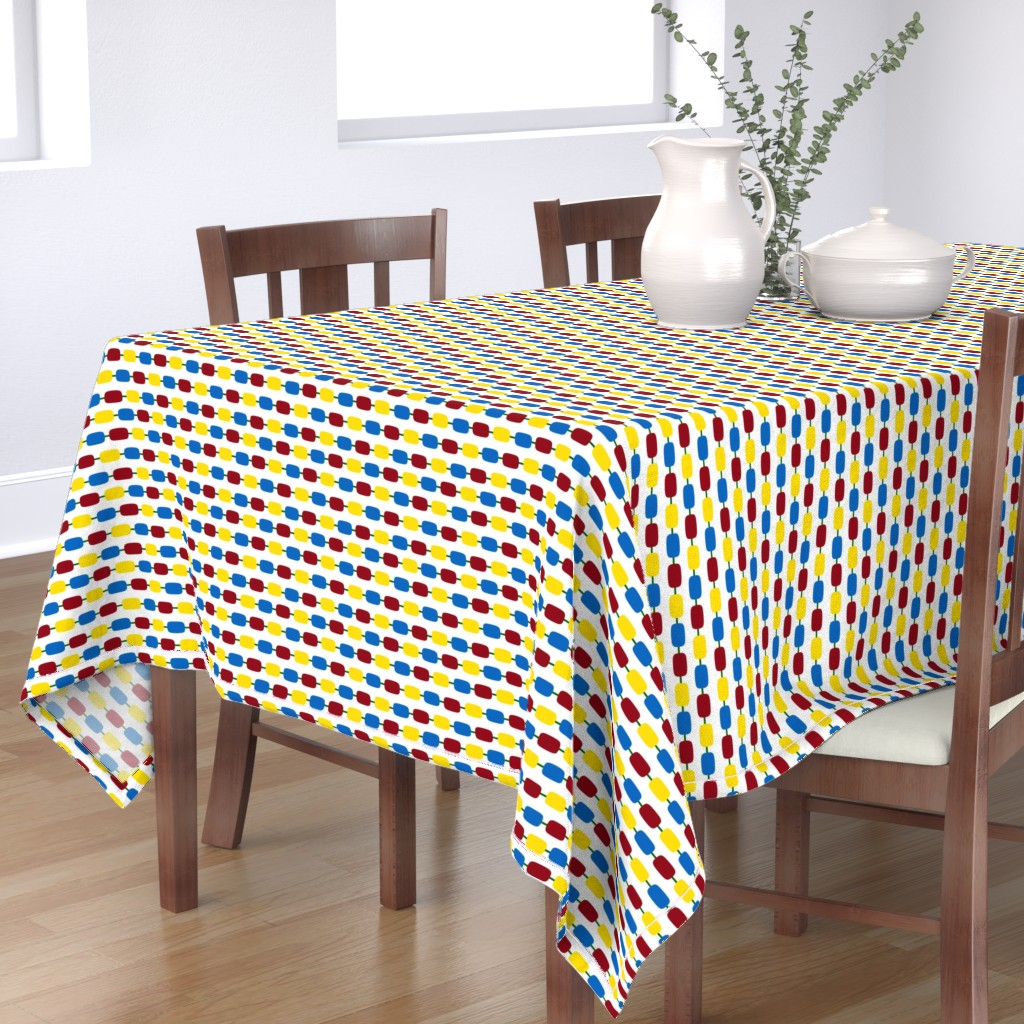 Bantam Rectangular Tablecloth featuring KindergartenBeads by jozanehouse