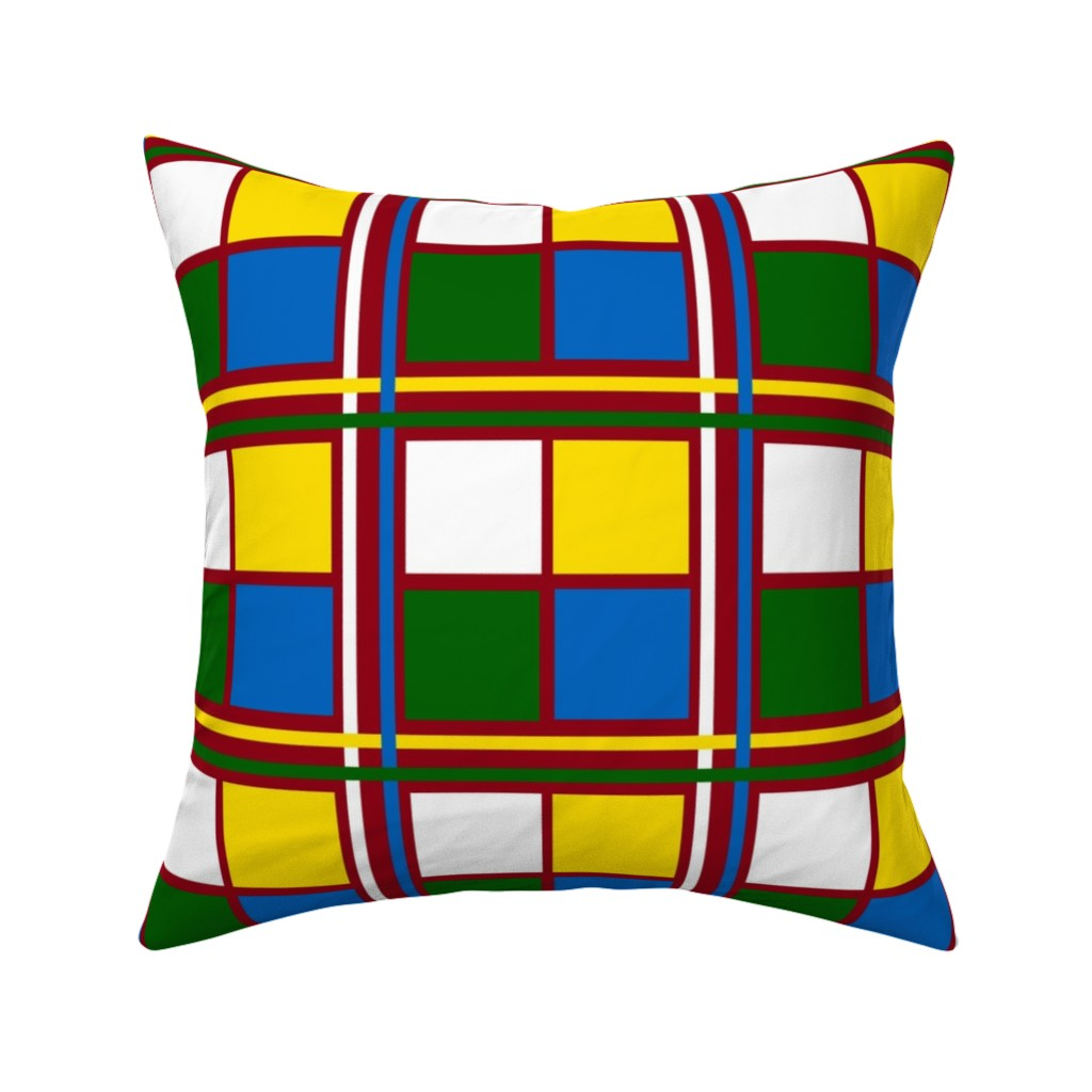 Catalan Throw Pillow featuring BlockTime by jozanehouse