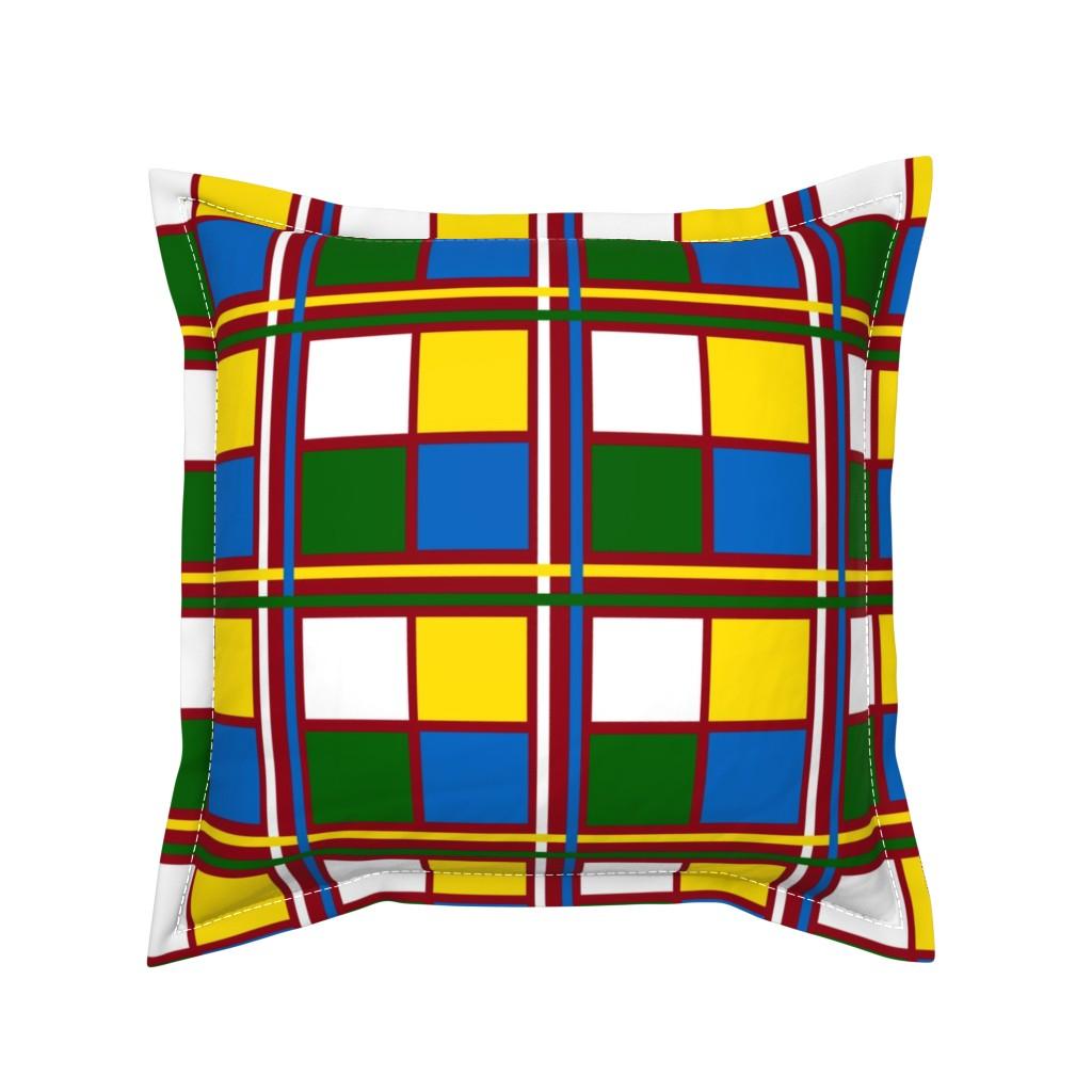 Serama Throw Pillow featuring BlockTime by jozanehouse