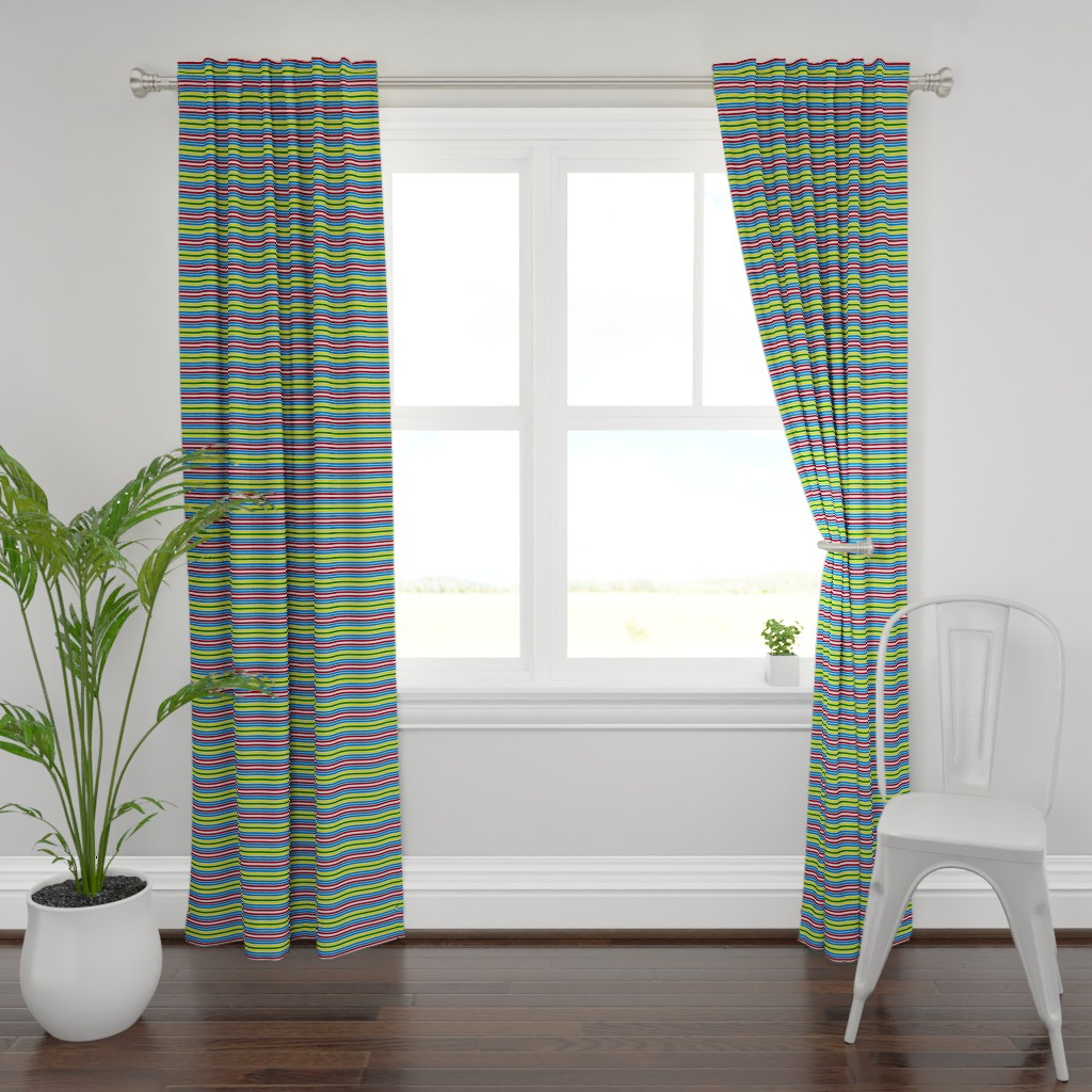 Plymouth Curtain Panel featuring Schoolhouse Stripes by jozanehouse