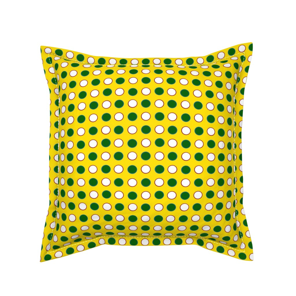 Serama Throw Pillow featuring DippyDot Playtime by jozanehouse