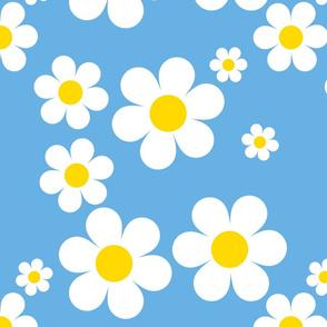 Birdy Daisies Aqua Blue v2.1