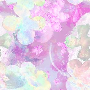Butterflies, blossoms, flowers