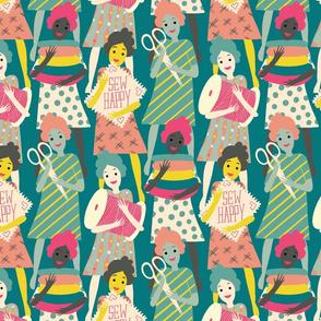 sew happy ladies // medium scale