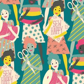 sew happy ladies // large scale