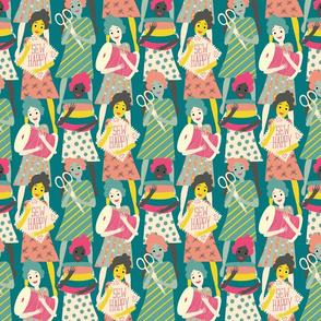 sew happy ladies // small scale