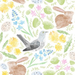 Easter Rabbits, Bluebells and Cuckoos