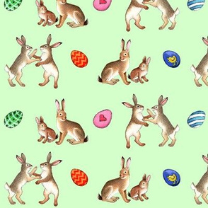 Happy easter, hare! green