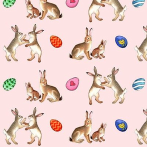 Happy easter ,hare! pink