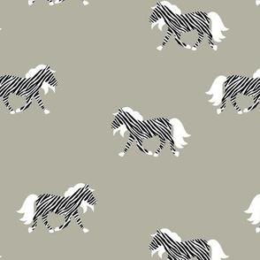 The minimalist zebra wild animals cameo green black and white