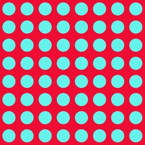 Red With Turquoise Dot V2