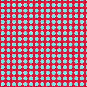 Red With Turquoise Dot V3