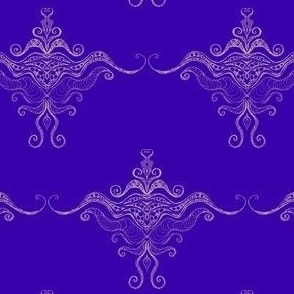 Curly texture damask Sand on violet