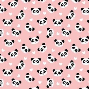 Cute Panda Peach Pink - S