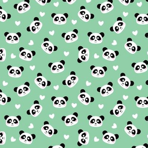 Kawaii Panda Mint Green - S
