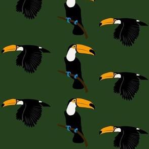 Toucans - dark green