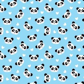 Cute Panda light blue - S