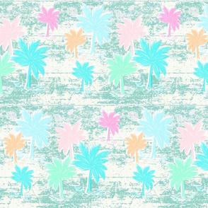 palm tree paradise - whitewashed mint LG 105