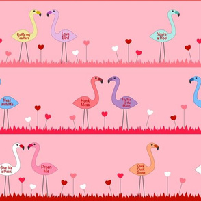 February Flamingo Pattern