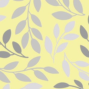 Silver Leaves On Yellow