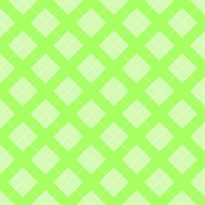 argyle in pastel green