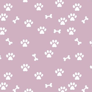 Wild cats and dogs paws and bones animal print design colorful kids nursery purple