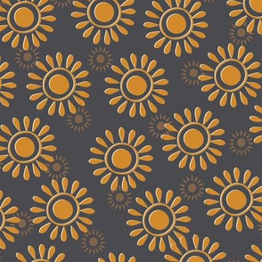 Sunflowers-black and gold-nanditasingh