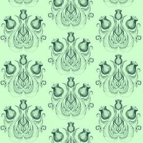 Gumnut Damask Greens