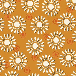 Sunflowers-gold and white-nanditasingh