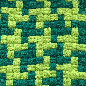 Double Green Houndstooth Woven