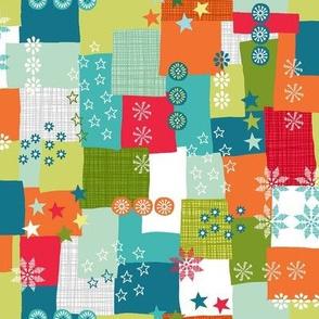 Multi colour patchwork