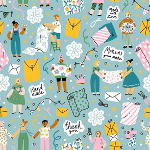 Makers gonna make, Spoonflower community pattern