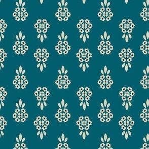Floral Motif Blue Prairie