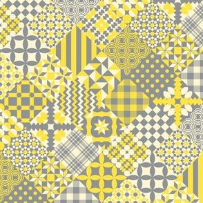 Illuminating Yellow quilt patchwork