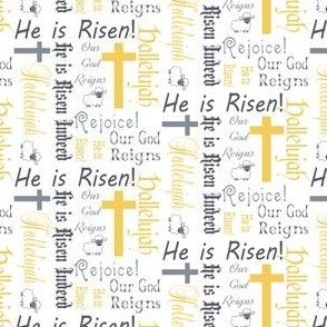 He is risen gold and silver