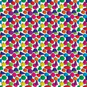 3D Kids Colors Geometric Pattern