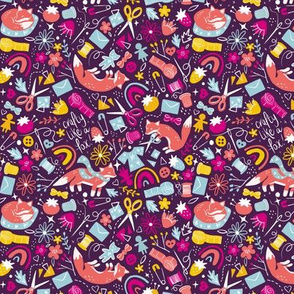 Crafty Like A Fox | Purple | Medium