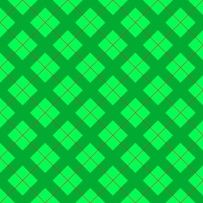 argyle in green and red for Christmas