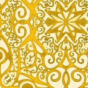 Ironwork Starswirls, Golden, large