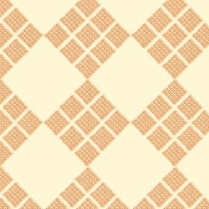 waffles diamond plaid - cream