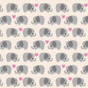 Cute Elephant Beige -S
