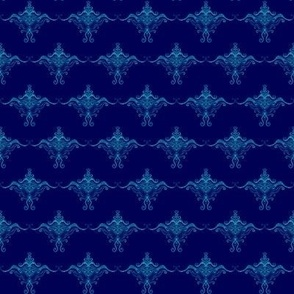 Curly texture damask Blues