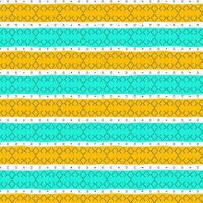 Beachy Diamond Stripes