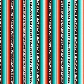 Turquoise Serape and Leopard
