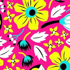 Papercut Floral (Magenta)