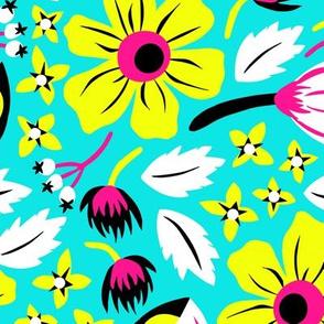 Papercut Floral (Cyan)